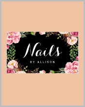 floral-nail-technician-business-card