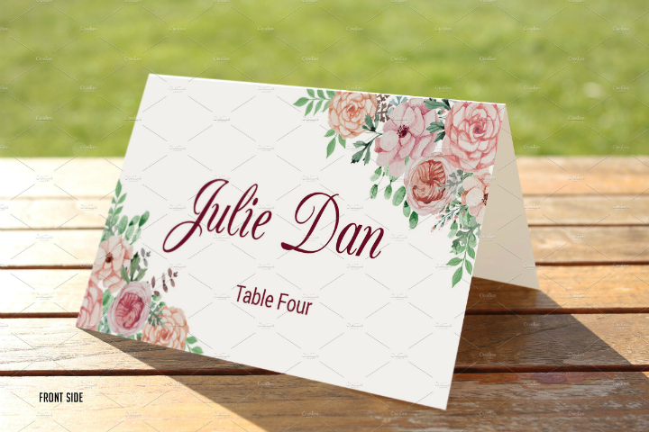 floral-wedding-name-place-card-template