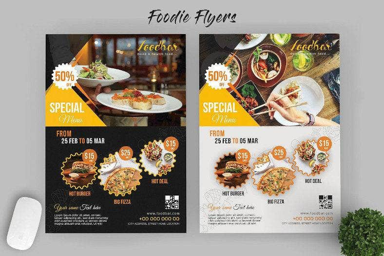 food flyer design template 788x525