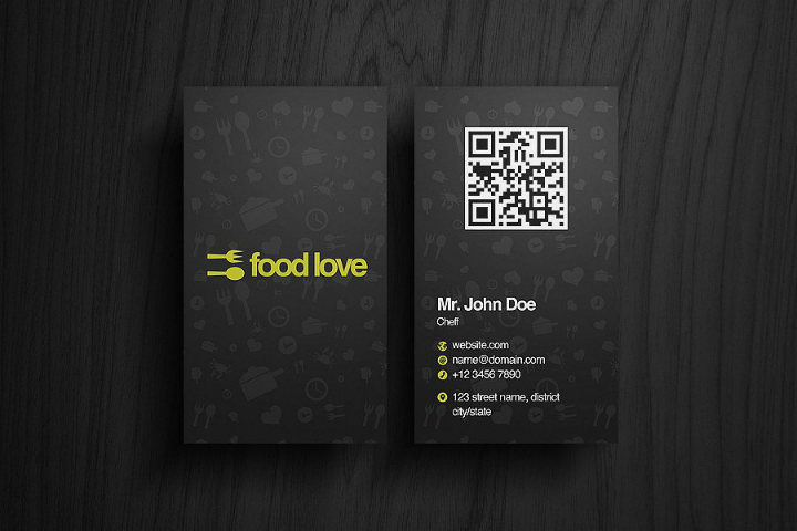 food-love-restaurant-name-card-template