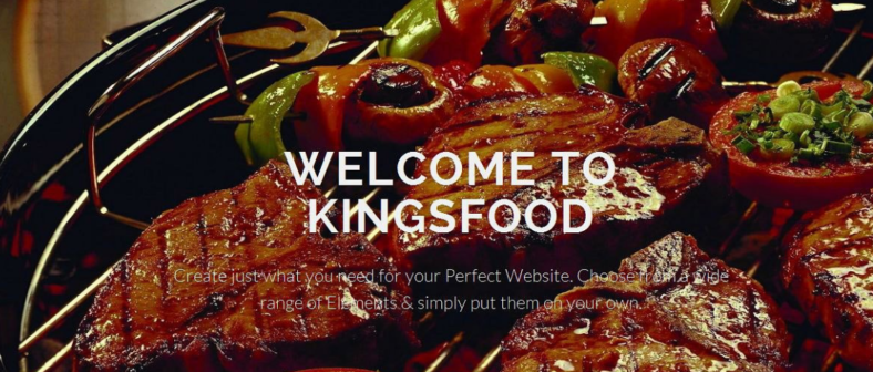food restaurant website template 788x336