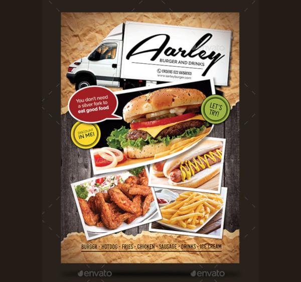 food truck menu flyer business card
