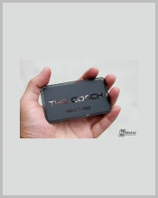 free-coach-black-metal-business-card