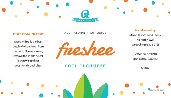 free-sample-food-label