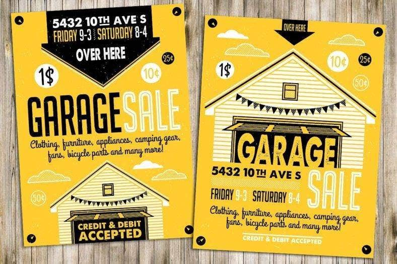 garage sale flyer poster 788x524