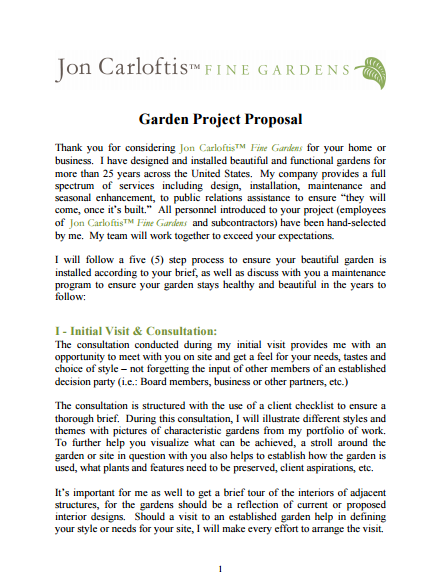 Garden Project Proposal