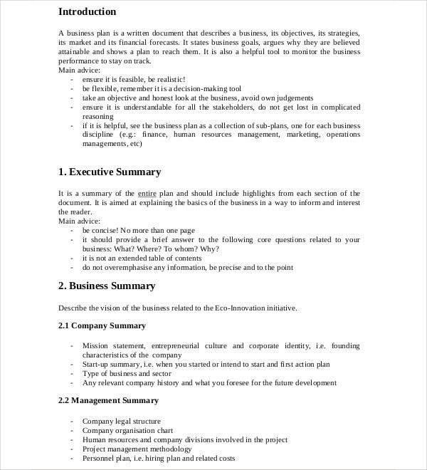 general development business plan