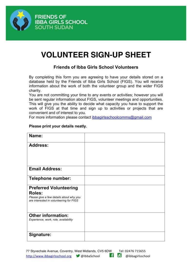 girls school volunteer sign up sheet 788x1115