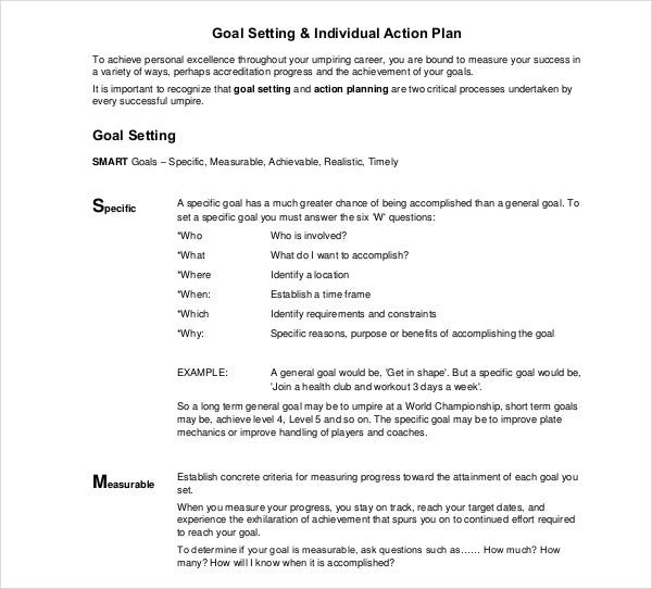 goal development action plan