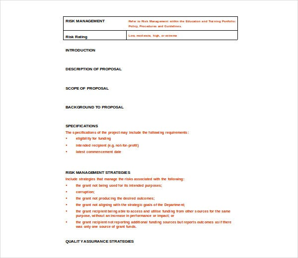 grant project management plan