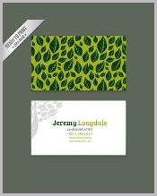green-business-card-with-leaves