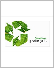 green-recycle-business-card-template