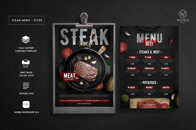 grill steak menu flyer 788x524
