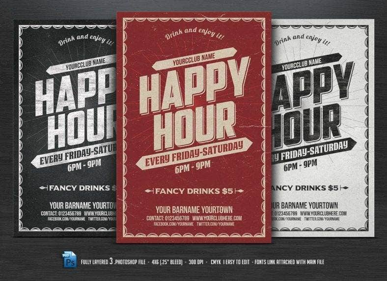 Happy Hour Flyer Design