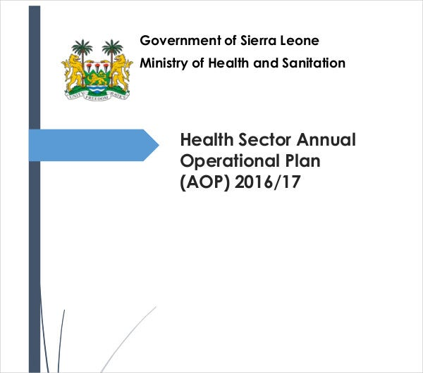 Health Sector Annual Operational Plan