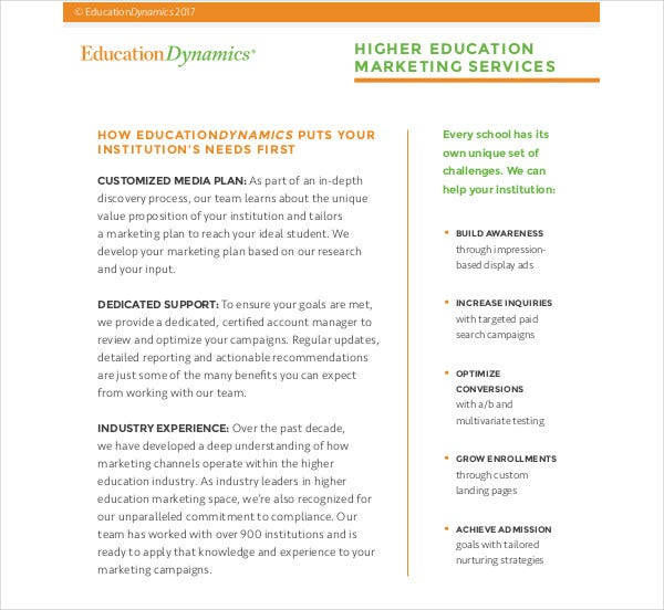 higher education marketing strategy