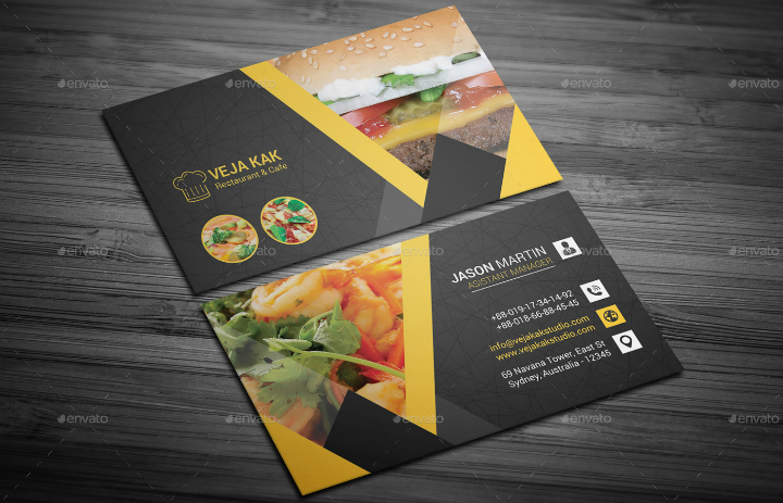 14  restaurant name card templates  u0026 designs