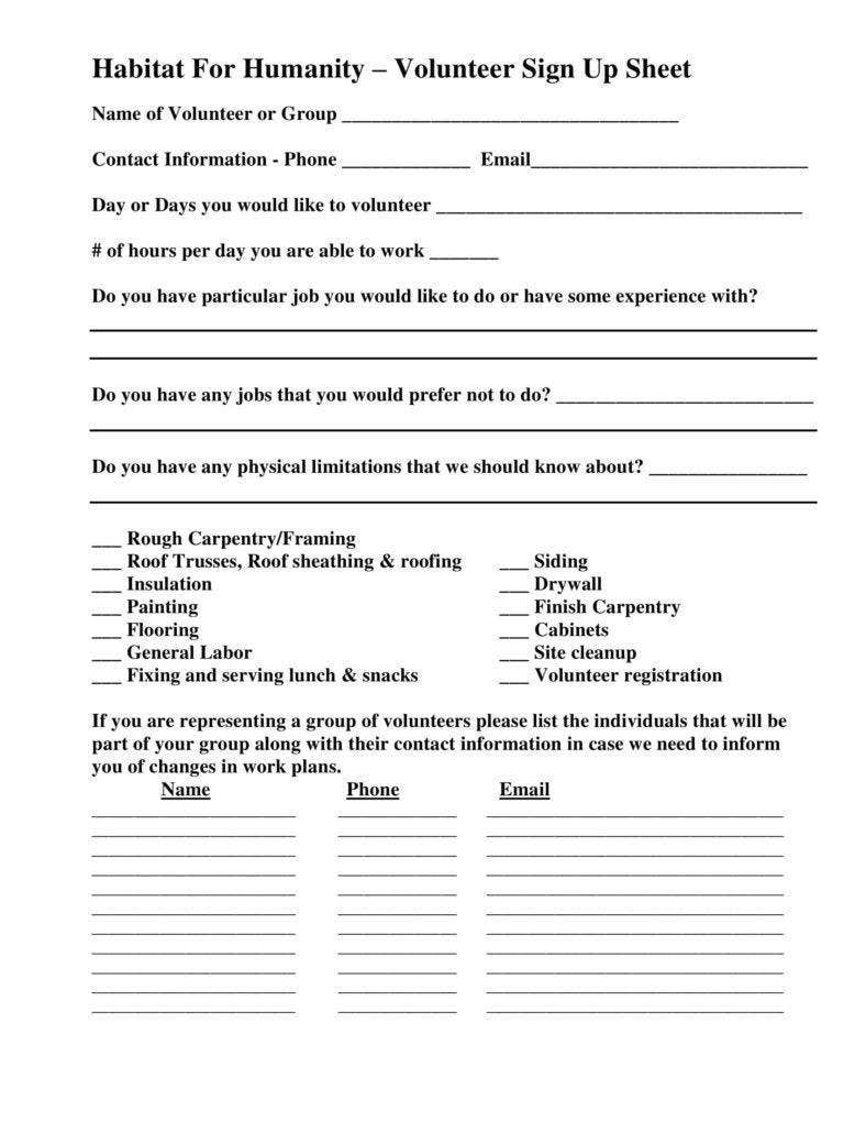 humanity volunteer sign up sheet 788x1020