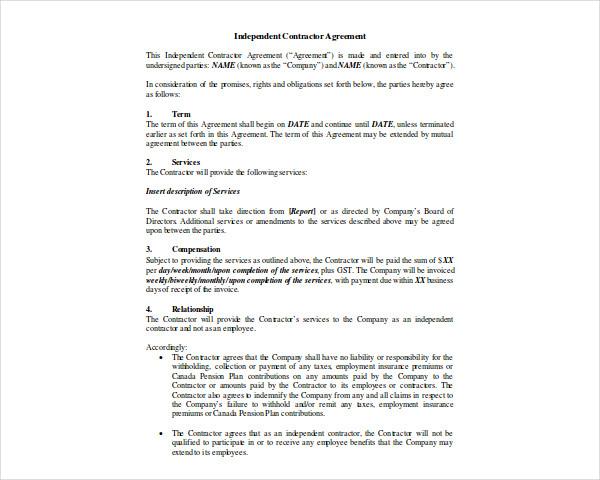 independent contractor marketing plan