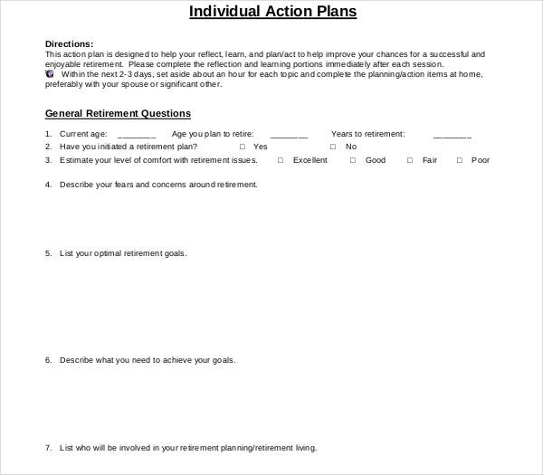 individual action plans