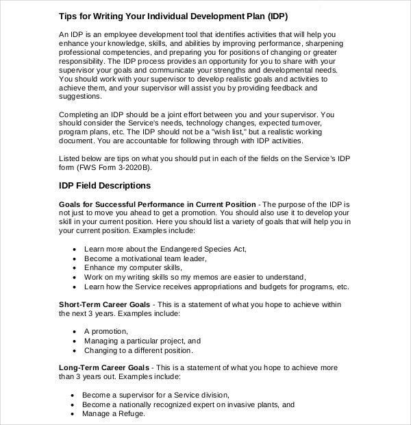 individual goal development plan1