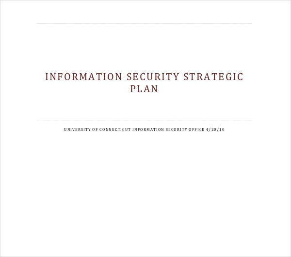 information security strategic plan
