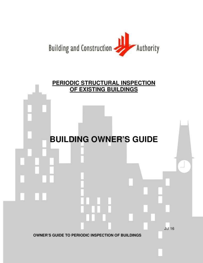 Inspection Report of Existing Buildings