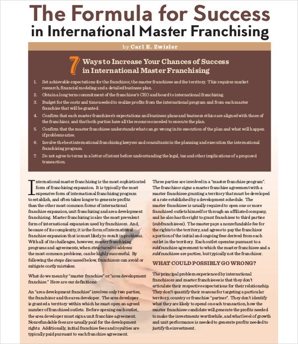 international master franchising