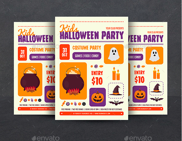 Kids Halloween Flyer