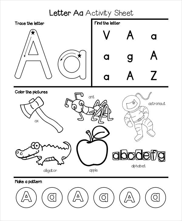 Alphabet-kindergarten-worksheets & It ...\
