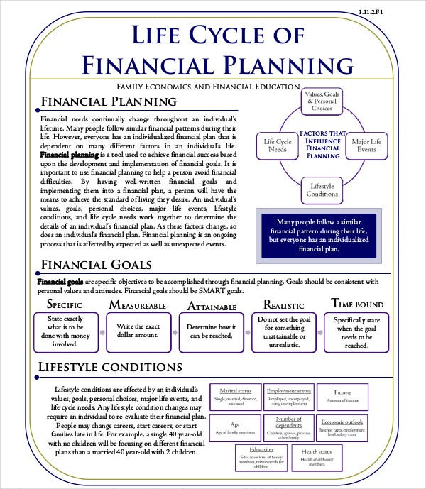 life cycle financial planning