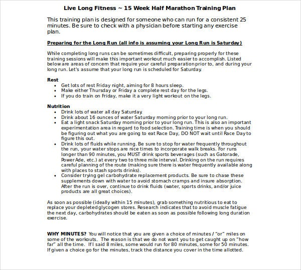 live long fitness plan