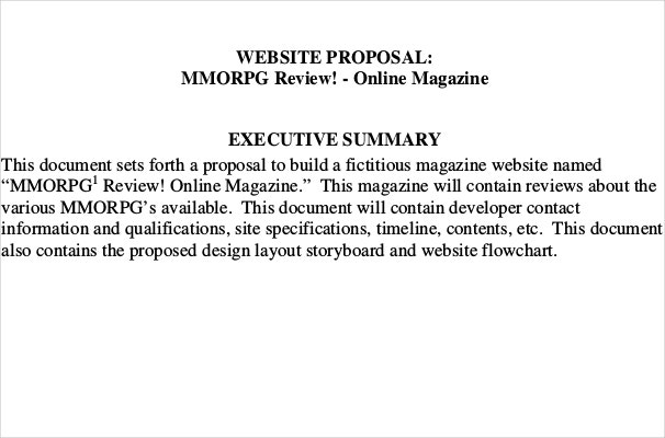 Magazine Website Proposal Template