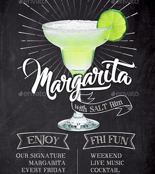 Margarita Cocktail Flyer Template