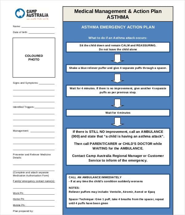 medical management action plan