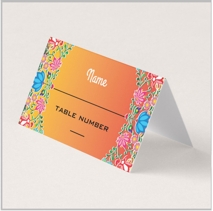 mexican fiesta name place card template