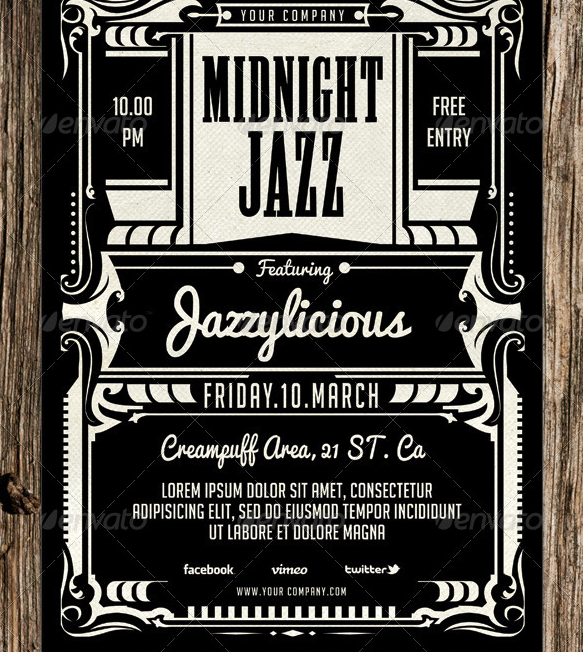 Midnight Jazz Flyer Template