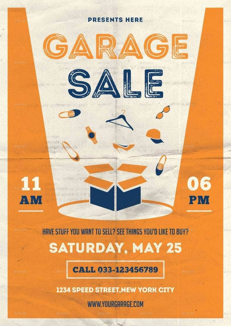 minimal garage sale flyer 788x1114