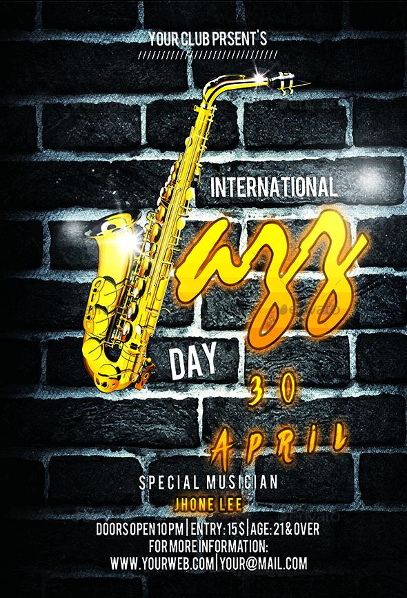 Minimal Jazz Flyer