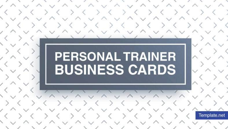 Minimal Personal Trainer Business Card Designs Templates - Personal trainer business cards templates