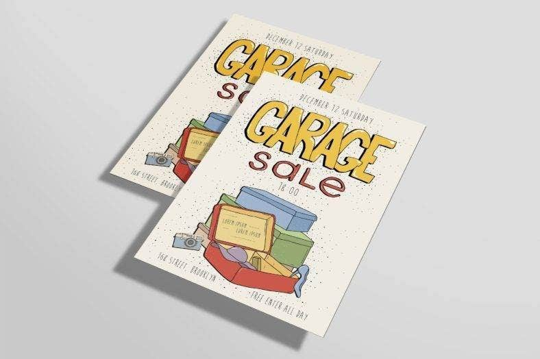 minimalist garage sale flyer 788x524