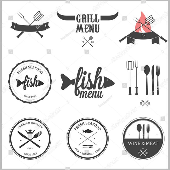 minimalist restaurant food label template