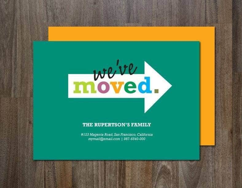 Minimalistic Moving Announcement Card