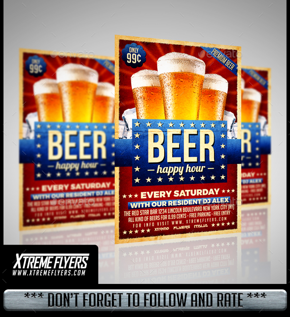 Modern Beer Flyer Template