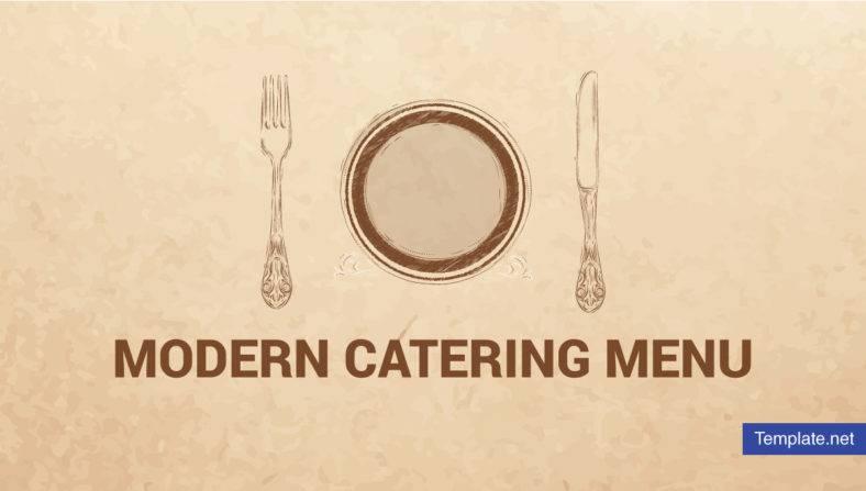 Modern Catering Menu