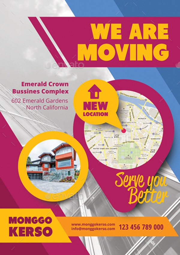 Modern Moving Announcement Card