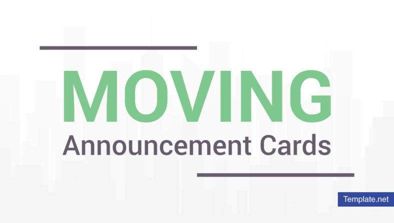 Moving Announcement Card