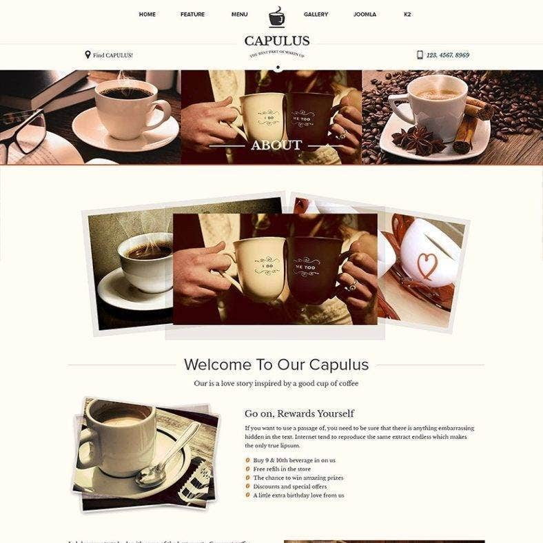 multipurpose coffee website template 788x788