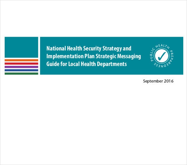 national health security strategic plan