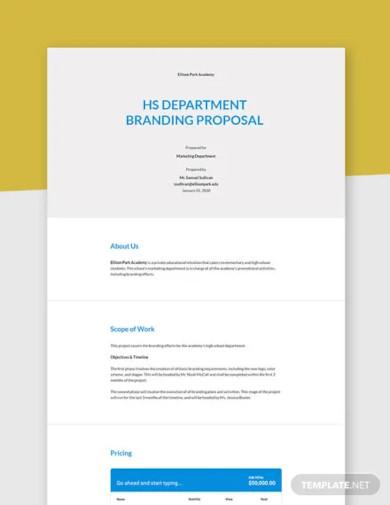 new school branding proposal template